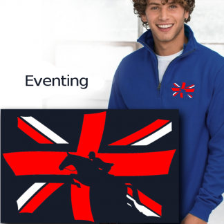 horse eventing union jack print