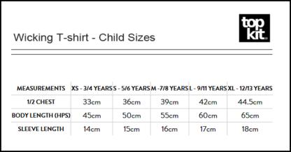 Sizes Wicking T-shirt Children