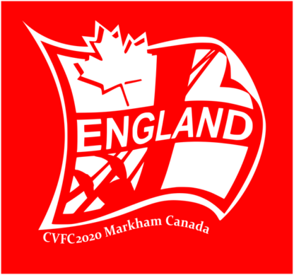 CVFC2020 England Logo on red