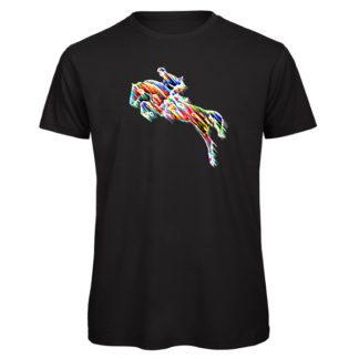 horse eventing print on t-shirt