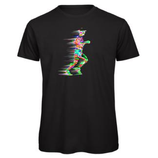 Marathon runner print on t-shirt
