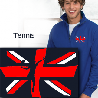 tennis print on union jack
