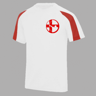 Archery England's logo is proudly displayed on a technical T-shirt well suited to the sport - lightweight, flexible, with the comfort of wicking material.